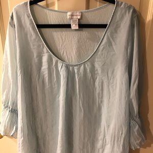 Soft Surroundings 3/4 sleeve layered shirt